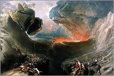 Wall Stickers  The Great Day of His Wrath, engraved by Charles Mottram - John Martin