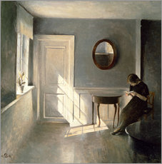 Gallery print  Girl Reading a Letter in an Interior - Peter Vilhelm Ilsted