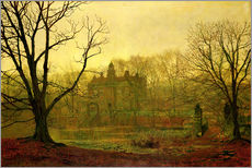 Wall sticker  Dusk in Yorkshire - John Atkinson Grimshaw