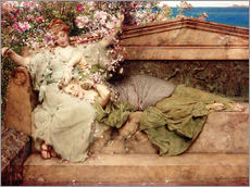Gallery print  In a Rose Garden - Lawrence Alma-Tadema