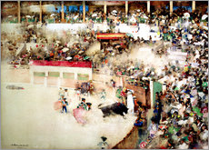 Wall Stickers  The Little Bull Fight. 'Bravo Toro', Seville, 1894 - Arthur Melville