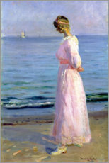 Acrylic print  Girl in a Pink Dress, 1914 - Michael Peter Ancher