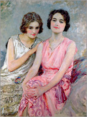 Wall sticker  Two Young Women Seated - William Henry Margetson