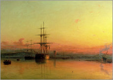 Gallery print  Dead Calm - Sunset at the Bight of Exmouth - Francis Danby