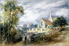 Wall sticker  Stoke Poges Church - John Constable
