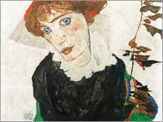 Gallery print  Portrait of Wally Neuzil - Egon Schiele
