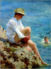 Wall Stickers  Boys Bathing - Henry Scott Tuke