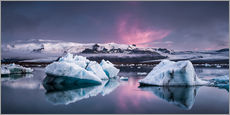 Gallery print  Eisebergs at Icelands Glacier Lagoon - Andreas Wonisch