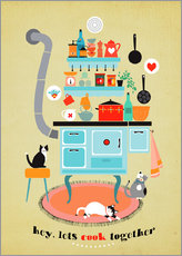 Wall sticker  lets cook together - Elisandra Sevenstar