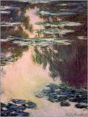 Wall sticker  Waterlilies with Weeping Willows - Claude Monet