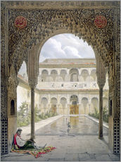 Gallery print  The courtyard of Alberca in the Alhambra, Granada, 1853 - Léon Auguste Asselineau