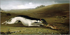 Gallery print  Hare Coursing in a Landscape, 1870 - John Fitz Marshall