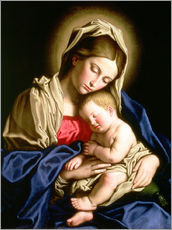 Gallery print  Madonna and child - Il Sassoferrato