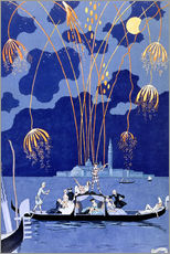 Gallery print  Fireworks in Venice, Fetes Galantes - Georges Barbier
