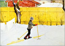 Wall sticker  The skis - Carl Larsson