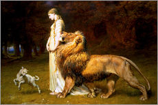 Gallery Print  Una and the Lion, from Spenser's Faerie Queene - Briton Riviere