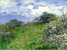 Canvas print  spring - Claude Monet