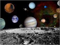 Gallery print  Montage of the planets - Stocktrek Images