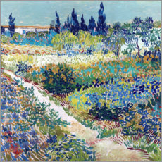 Aluminium print  The Garden at Arles - Vincent van Gogh