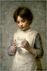 Gallery print  Girl with a silverfish, 1889 - William Robert Symonds