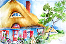 Wall sticker  House with thatched roof at the Baltic Sea - Brigitte Dürr