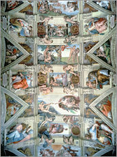 Wall sticker Sistine Chapel ceiling and lunettes