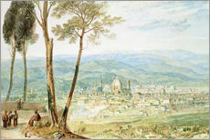 Wall sticker  Florence from the road to Fiesole - Joseph Mallord William Turner
