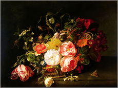 Wall sticker  Flowers and Insects - Rachel Ruysch