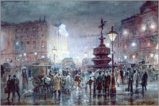 Gallery print  Piccadilly Circus at Night, 1911 - Thomas Prytherch