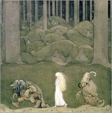 Wall Stickers  The Princess and the Trolls, 1913 - John Bauer