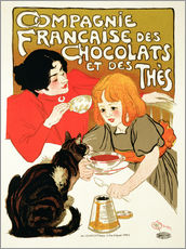 Wall Stickers  French Company of Chocolate and Tea - Théophile-Alexandre Steinlen