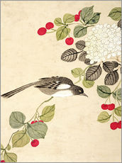 Wall sticker  Birds and berries, late 19th century - Wang Guochen