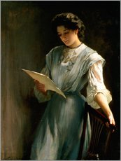 Wall sticker  Reading the Letter - Thomas Benjamin Kennington