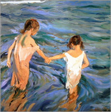 Wall Sticker  Children in the Sea - Joaquin Sorolla y Bastida