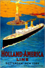 Wall sticker  Holland America Line - Rotterdam to New York - Travel Collection