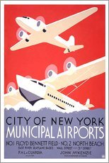 Gallery print  City of New York - Municipal Airports - Travel Collection