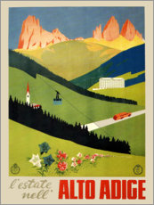 Wall sticker  Alto Adige vintage newspaper, South Tyrol, Italy - Travel Collection