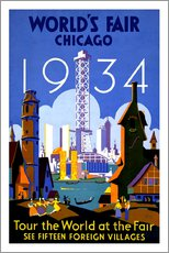Wall Stickers  Chicago - Worlds Fair 1934