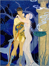 Wall sticker  Venus and Adonis - Georges Barbier