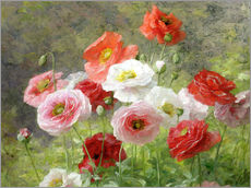 Wall sticker  Cluster of Poppies - Louis Marie Lemaire