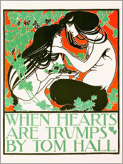 Premium poster  When hearts are trumps (English) - William Bradley