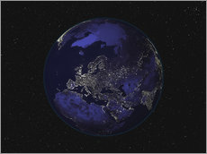 Wall sticker Earth at night - Europe