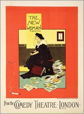 Gallery print  Advertising poster 'The New Woman' by Sydney Grundy - Albert Morrow