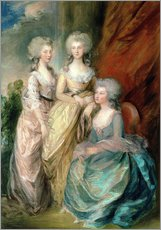 Wall sticker  Daughters of George III - Charlotte, Augusta and Elizabeth - Thomas Gainsborough