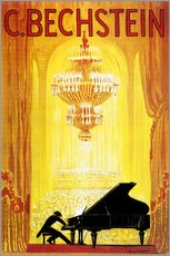 Wall sticker  exposition - C. Bechstein - Advertising Collection
