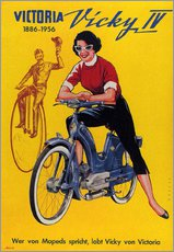 Gallery print  Who's talking about mopeds, praises Vicky Victoria - Advertising Collection