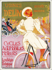 Gallery print  Bikes and automobile mechanic, Belgium - Georges Gaudy