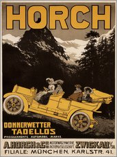 Gallery print  Horch cars - Golly impeccable - Advertising Collection