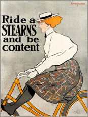 Aluminium print  Ride a Stearns and be content - Edward Penfield