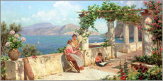 Wall sticker  People on a terrace on Capri - Robert Alott